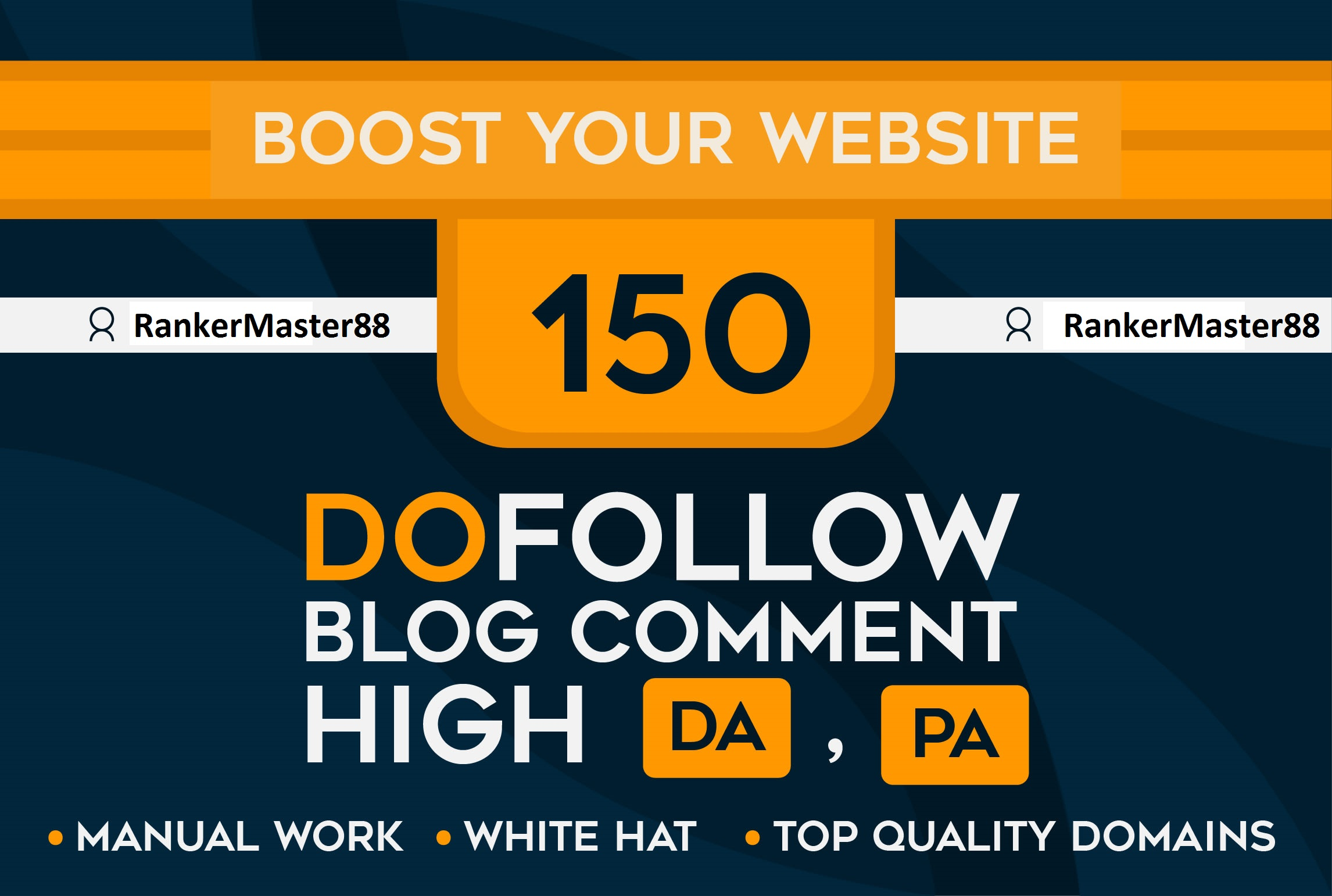 I will Provide 150 DoFollow Blog C0mments Backlinks on High DA PA for Rank Your Website