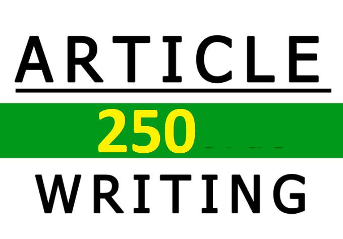 250 Professional SEO Article Writing Service