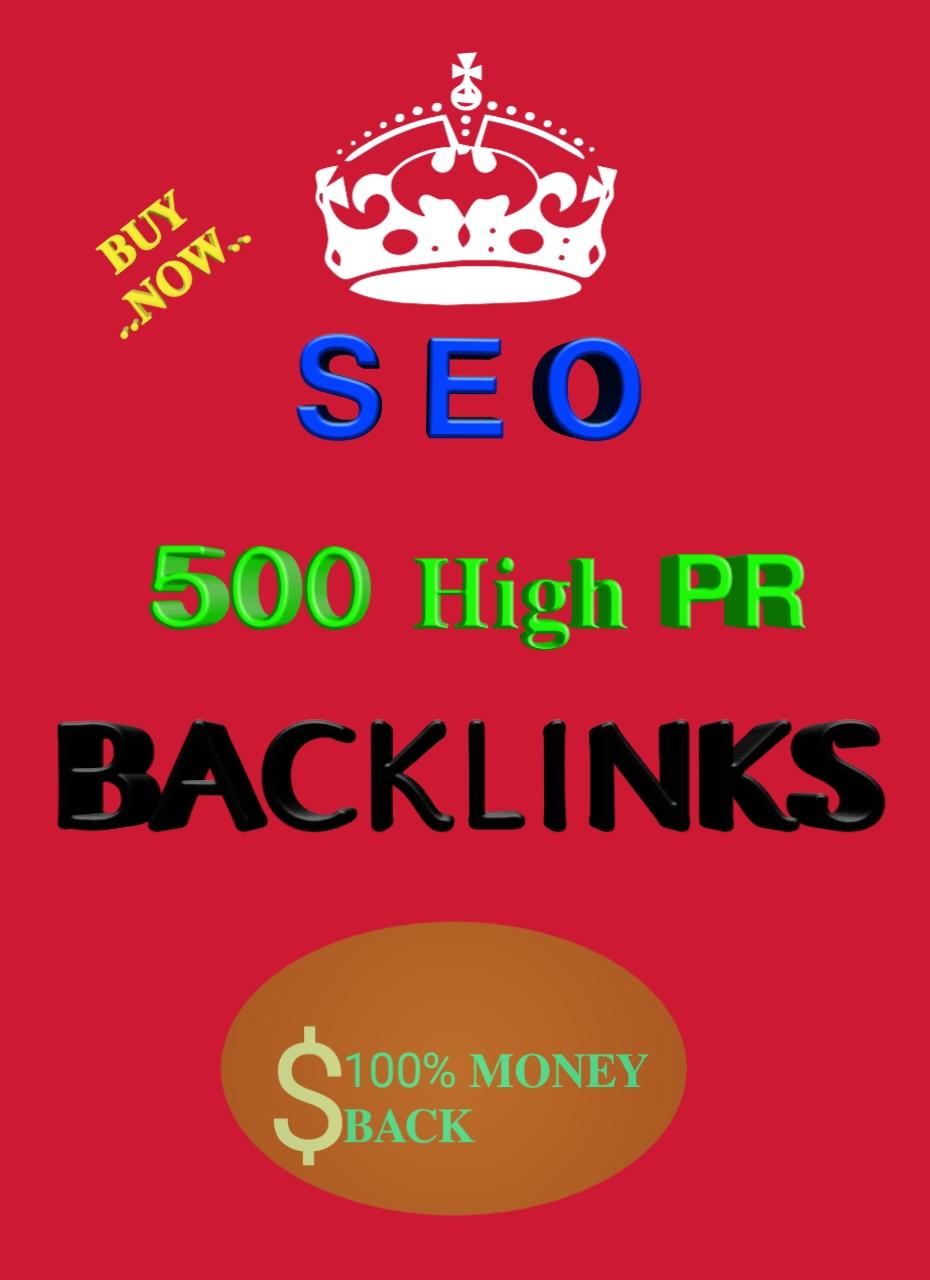 Do 500 Do -Follow PR5-PR9 High Domain Backlinks