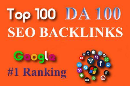 TOP OFFER- Build Top 100 Unique Domain SEO Backlinks On Da100