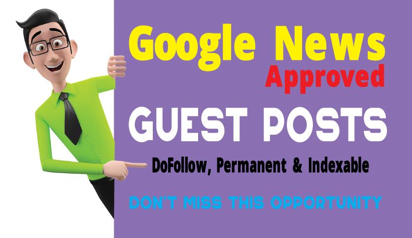 Guest Post on Google News Approved Blog - DA66,  DR50