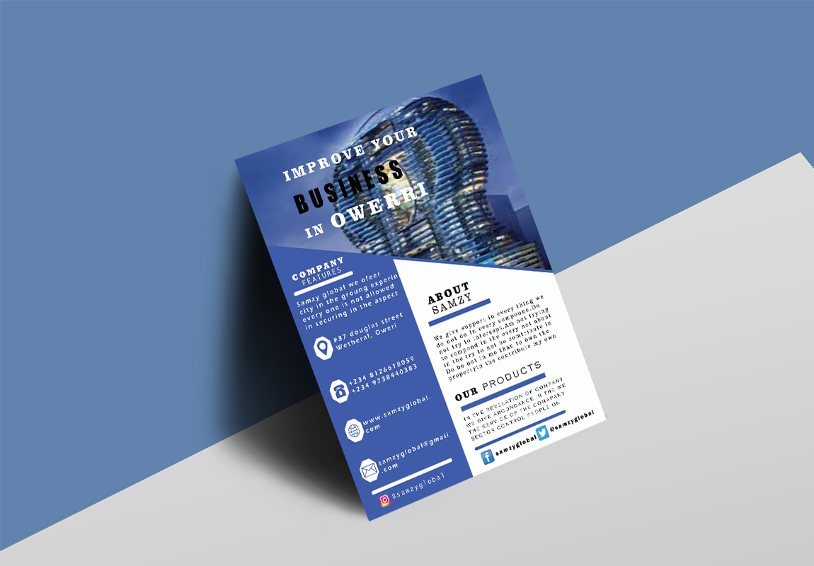 I will design a stunning flyer for you