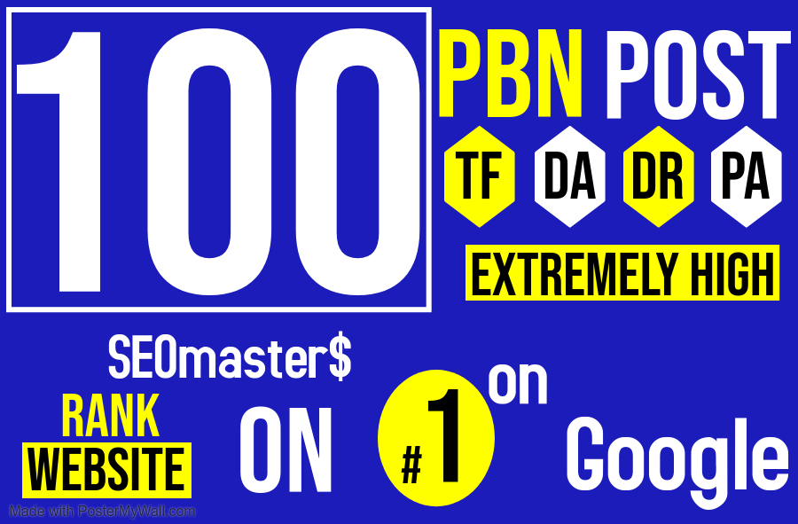 100 Permanent PBN DR 60+ High Authority Homepage Do-follow Backlinks - Highly Recommended