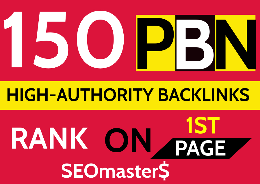 Get 150 Permanent PBN DR 90 high quality Homepage Do-follow Backlinks