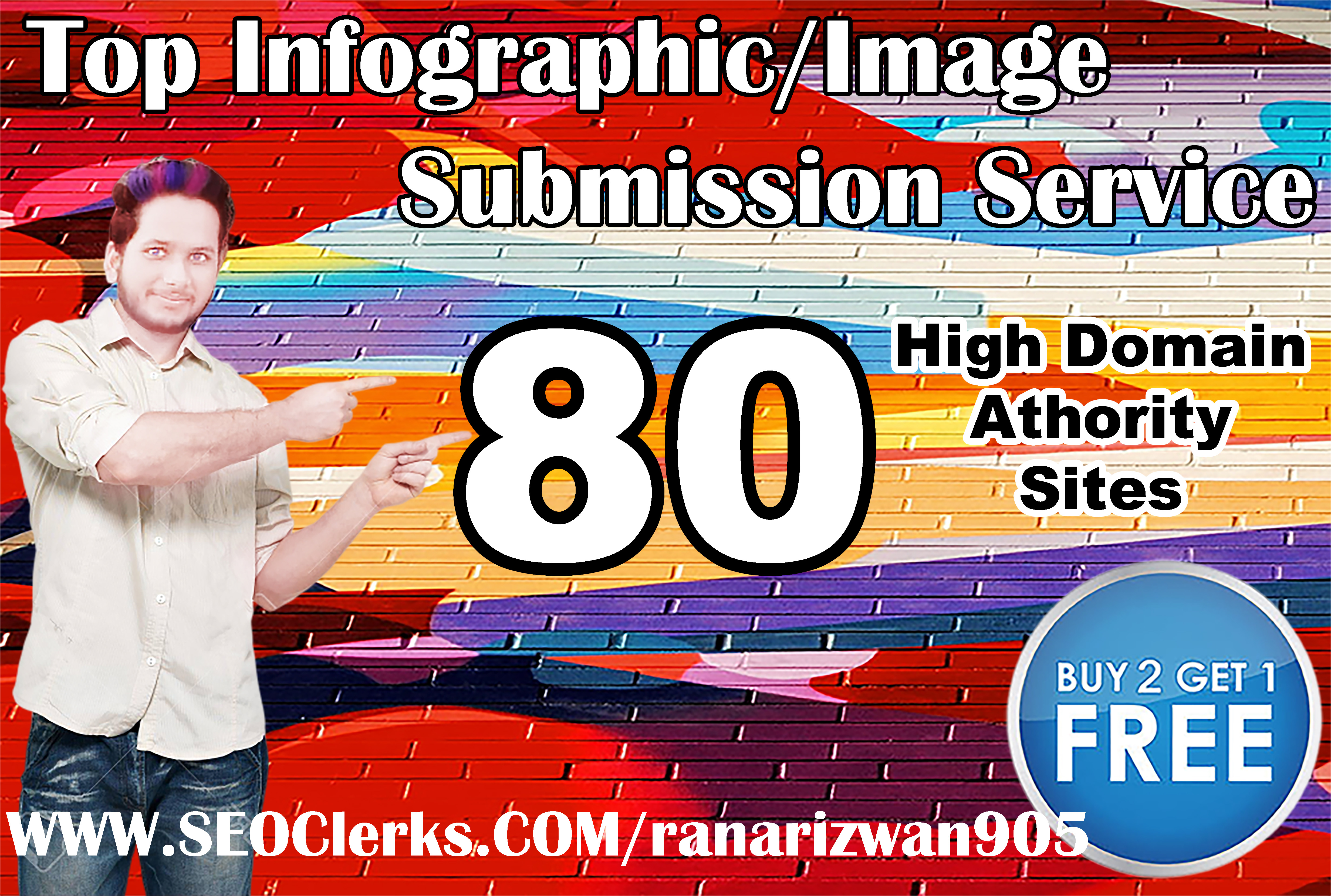I will submit and share your infographics to high PR image submission sites
