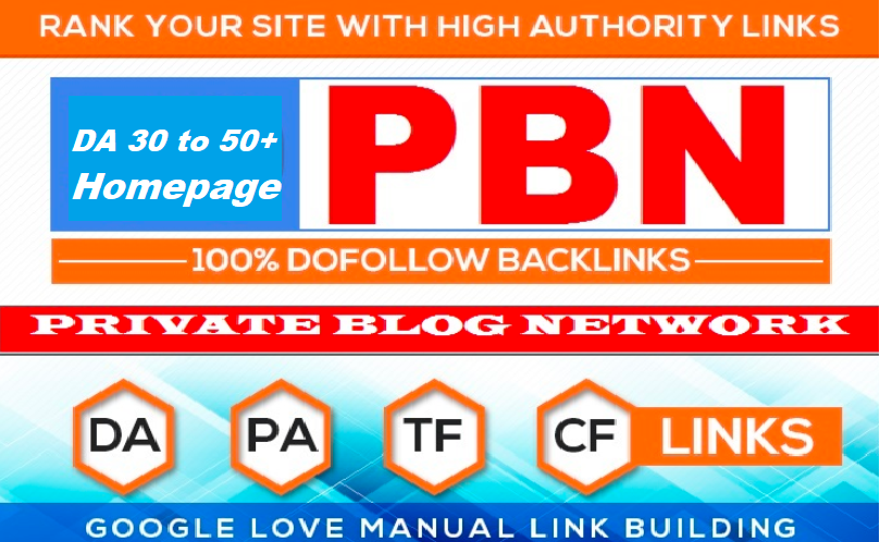 Create 5 High PA/DA 30 to 40+ PBN Backlinks/PBN links for SERP To Improve Your Google Ranking