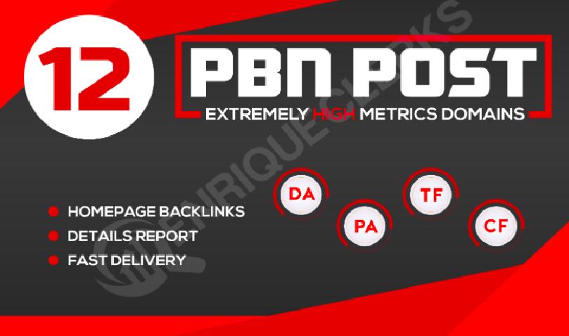 Create 12 High Da 25 To 50+ Homepage PBN Backlinks To Skyrocket your SERP