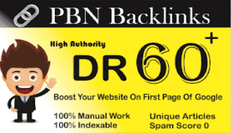 Build 8 Permanent DR 45 to DR 67+ with image and h1 h2 h3 Homepage PBN Dofollow Backlinks