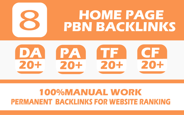 provide 8 homepage pbn high authority dofollow backlinks for your website boost