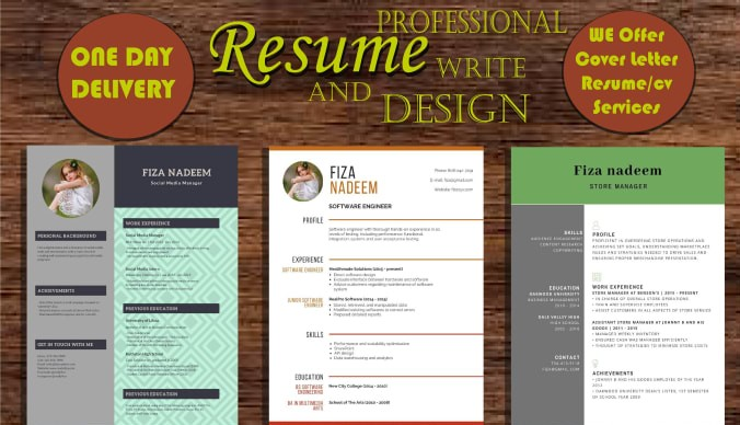 I will provide professional resume writing and CV design services