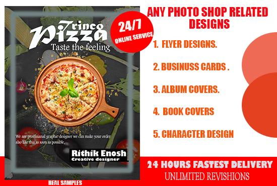 I will design attractive flyer, brochure, album cover, logo designs