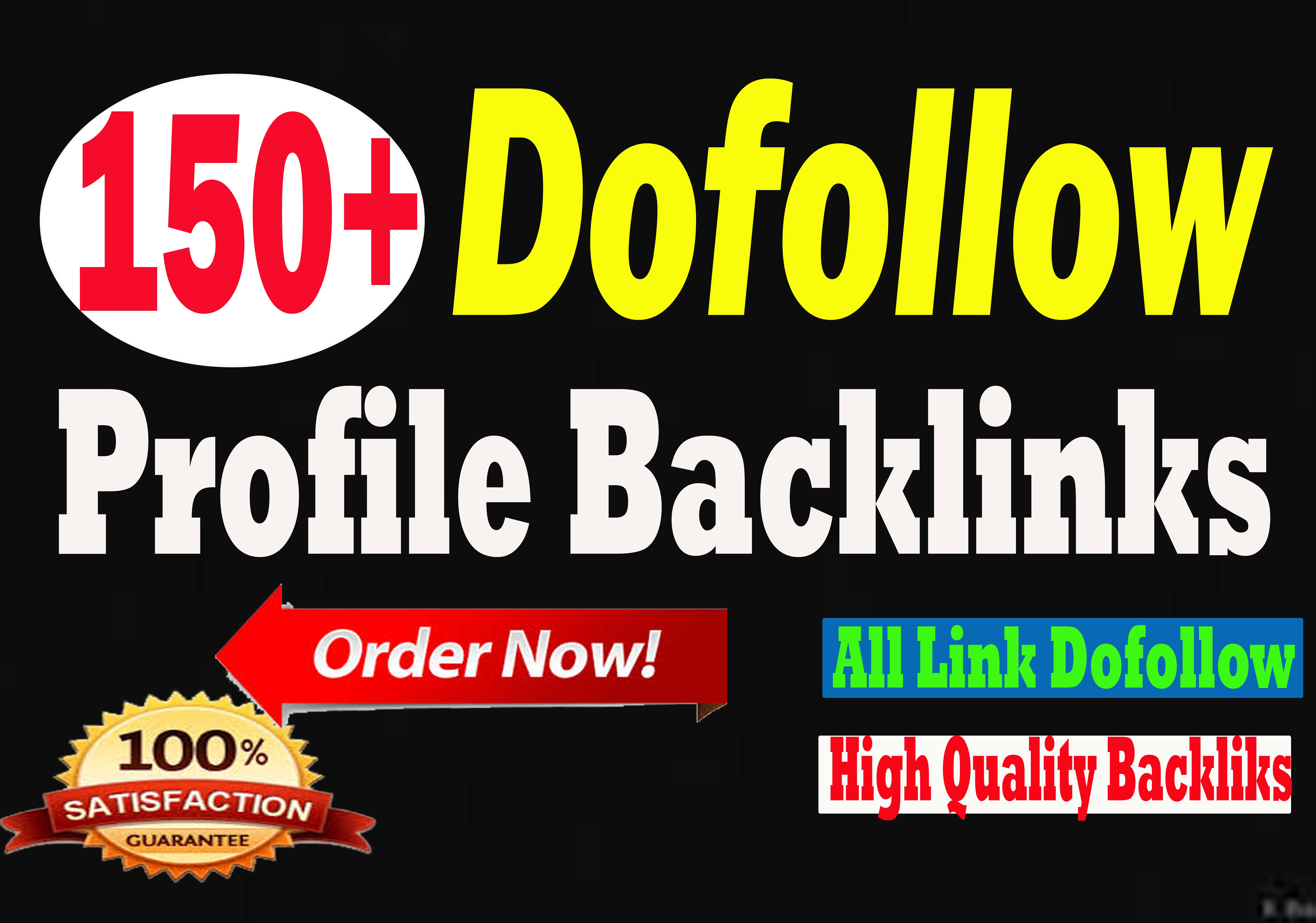 manually Create 150+ High DA90 best Quality Dofollow Profile Backlinks