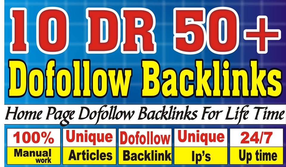 Get 10 DR 50 to 65 homepage permanent PBN Backlinks