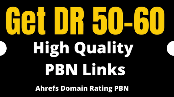Get 14 DR 50 to 60 homepage permanent PBN Backlinks