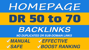 Get 7 DR 50 to 70 homepage permanent PBN Backlinks