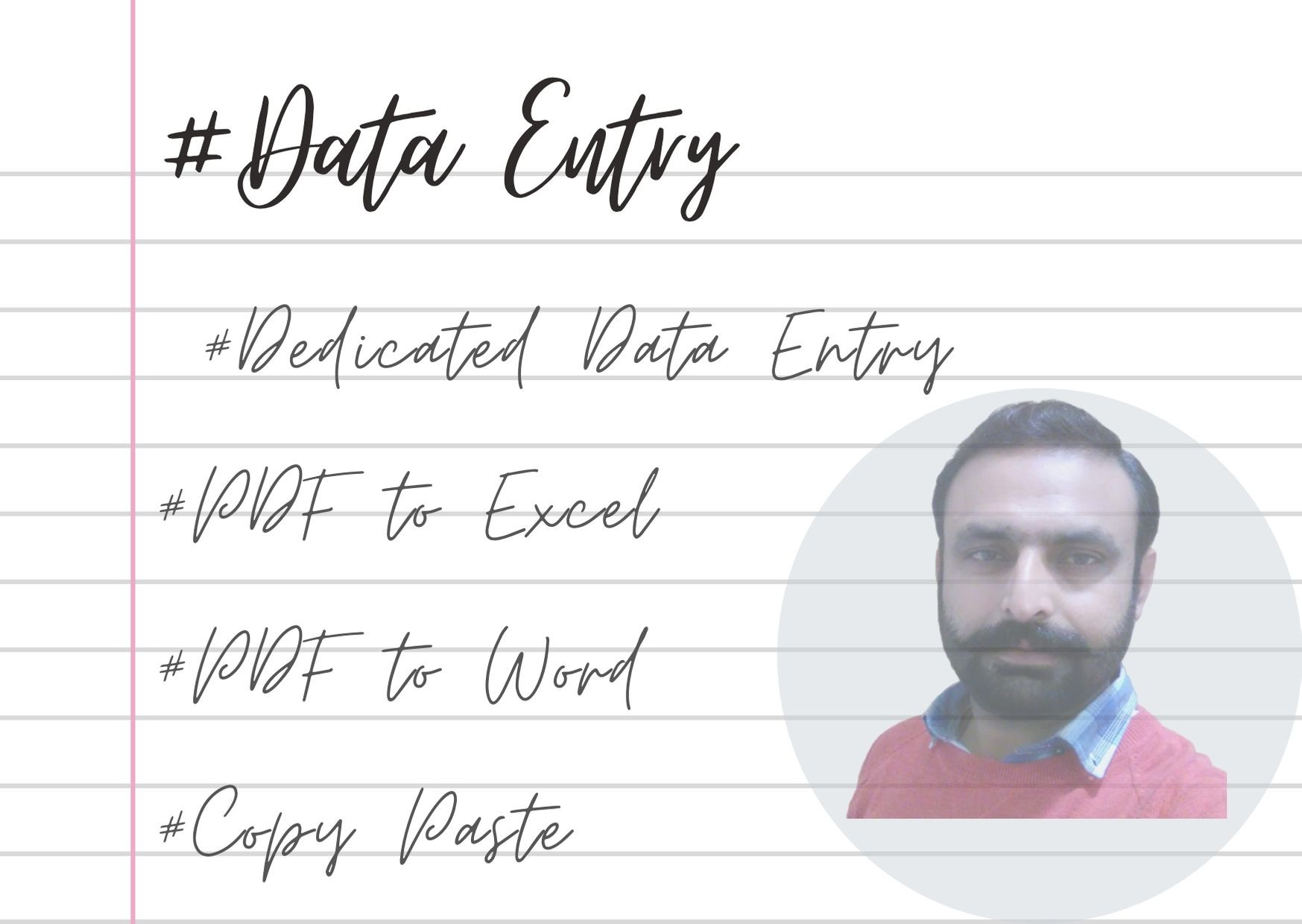 I will provide Dedicated Data Entry Services