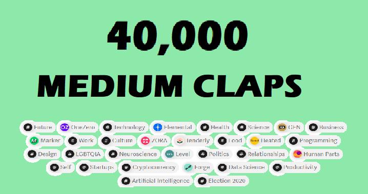Promote 40,000 medium claps to your medium article
