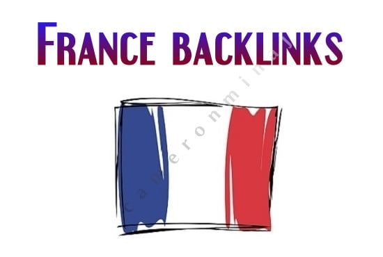 Do manually 10 french geo targeted backlinks