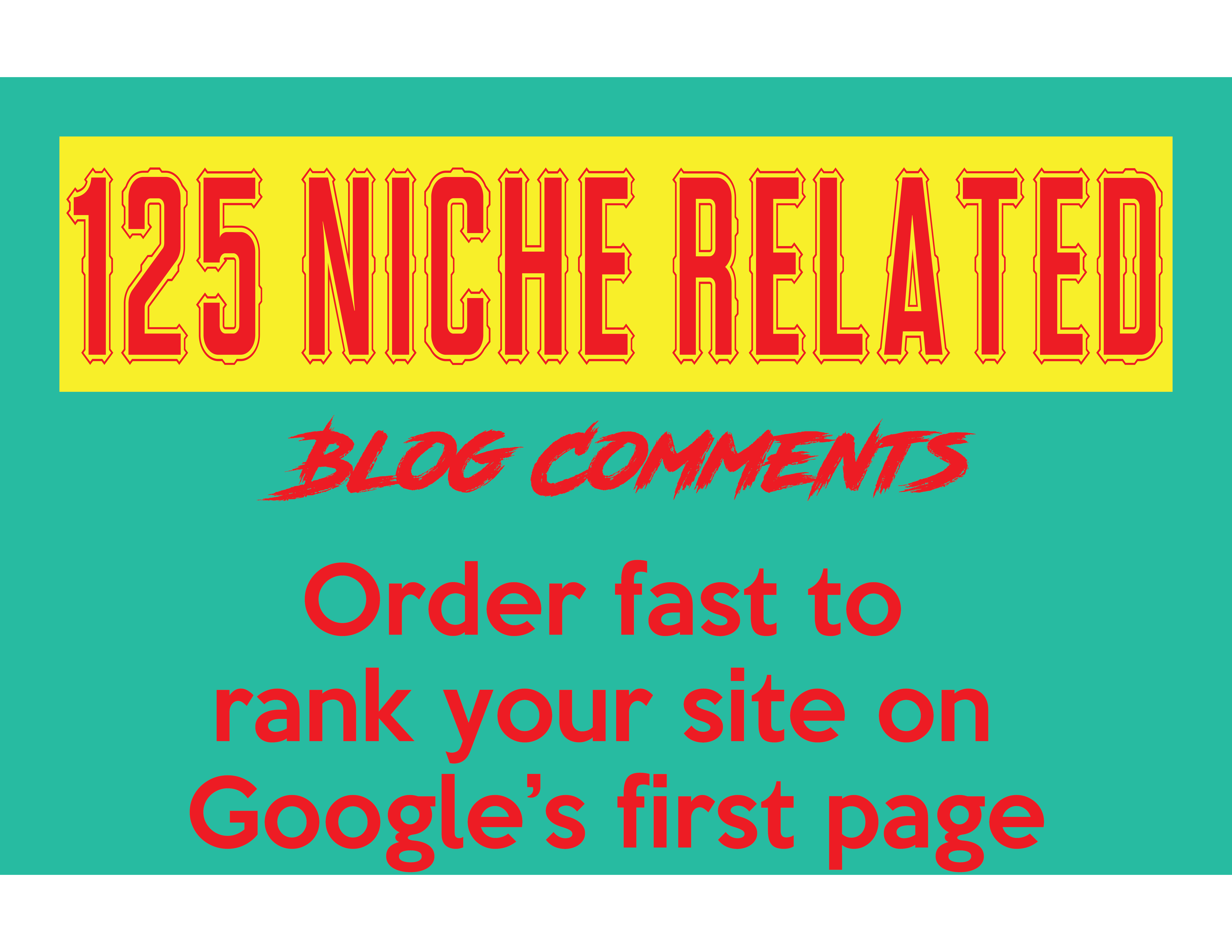 Do 125 Niche related blog comments Manually