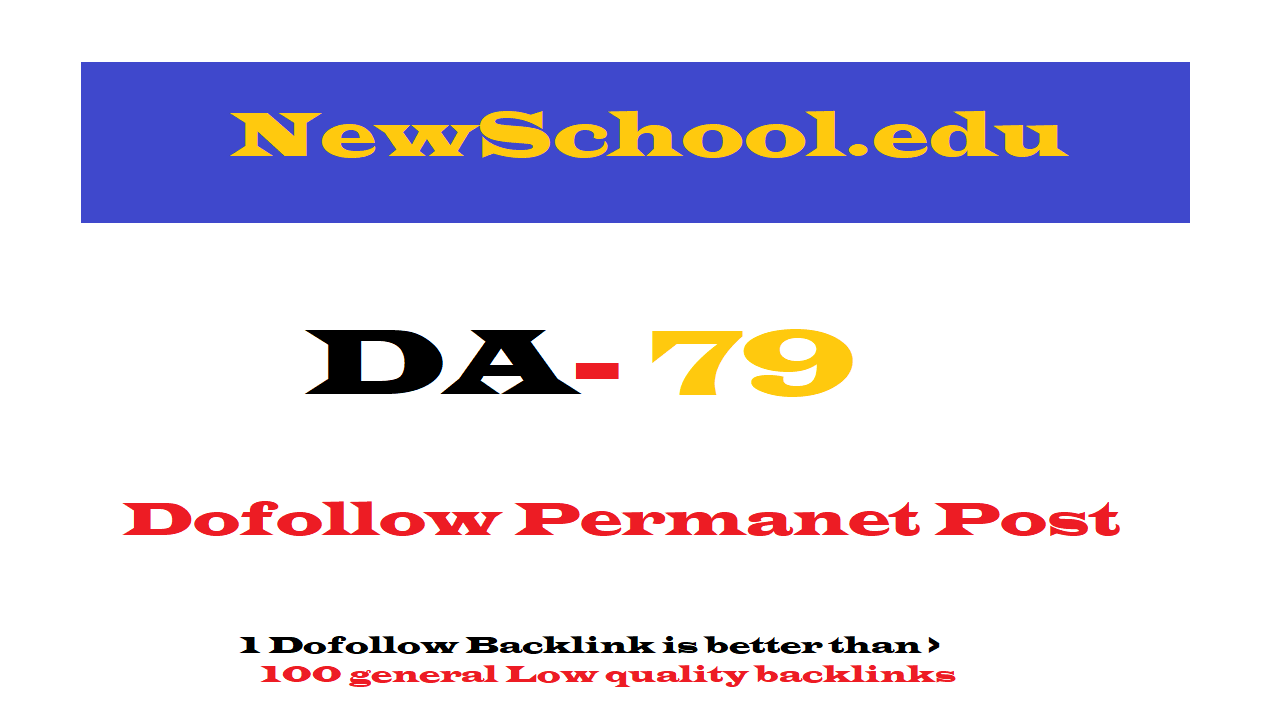 Permanent Guest Post on Newschool. edu DA79