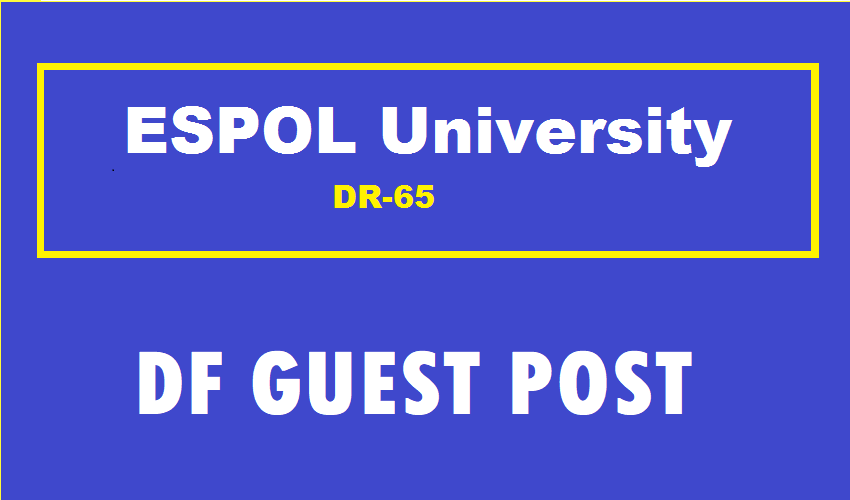 Guest Post On Spanish ESPOL University DR65