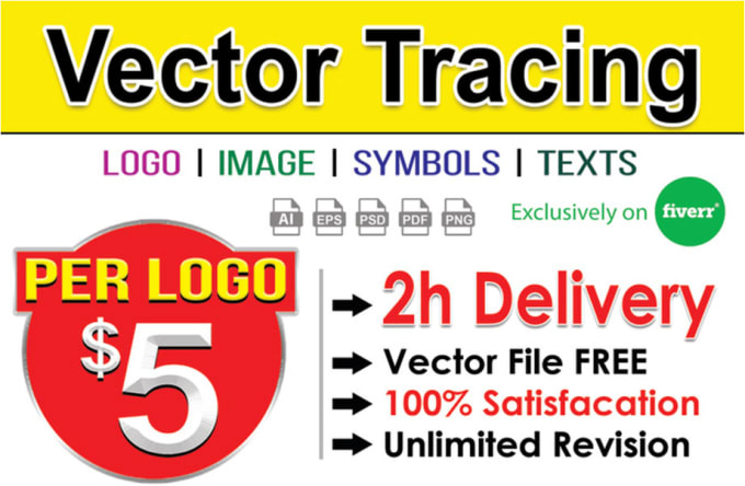 I will vectorize logo,  vector trace,  redraw,  convert to vector
