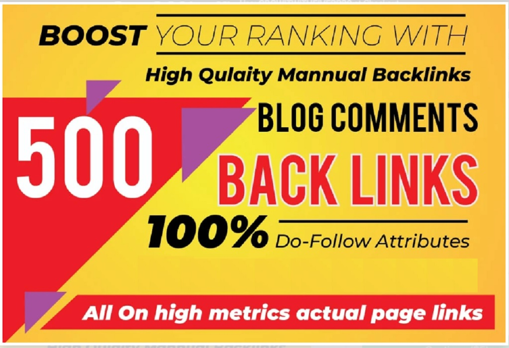I will do unique trust flow blog comment manual on good ranking sites