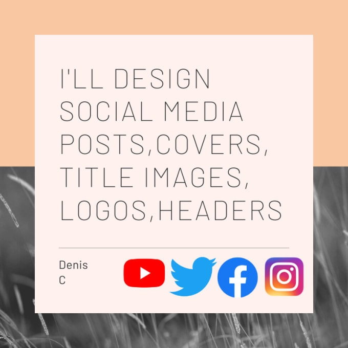I will design your social media posts,  logo,  covers,  headers etc