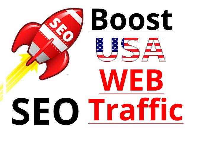 usa Traffic by social media organic traffic seo
