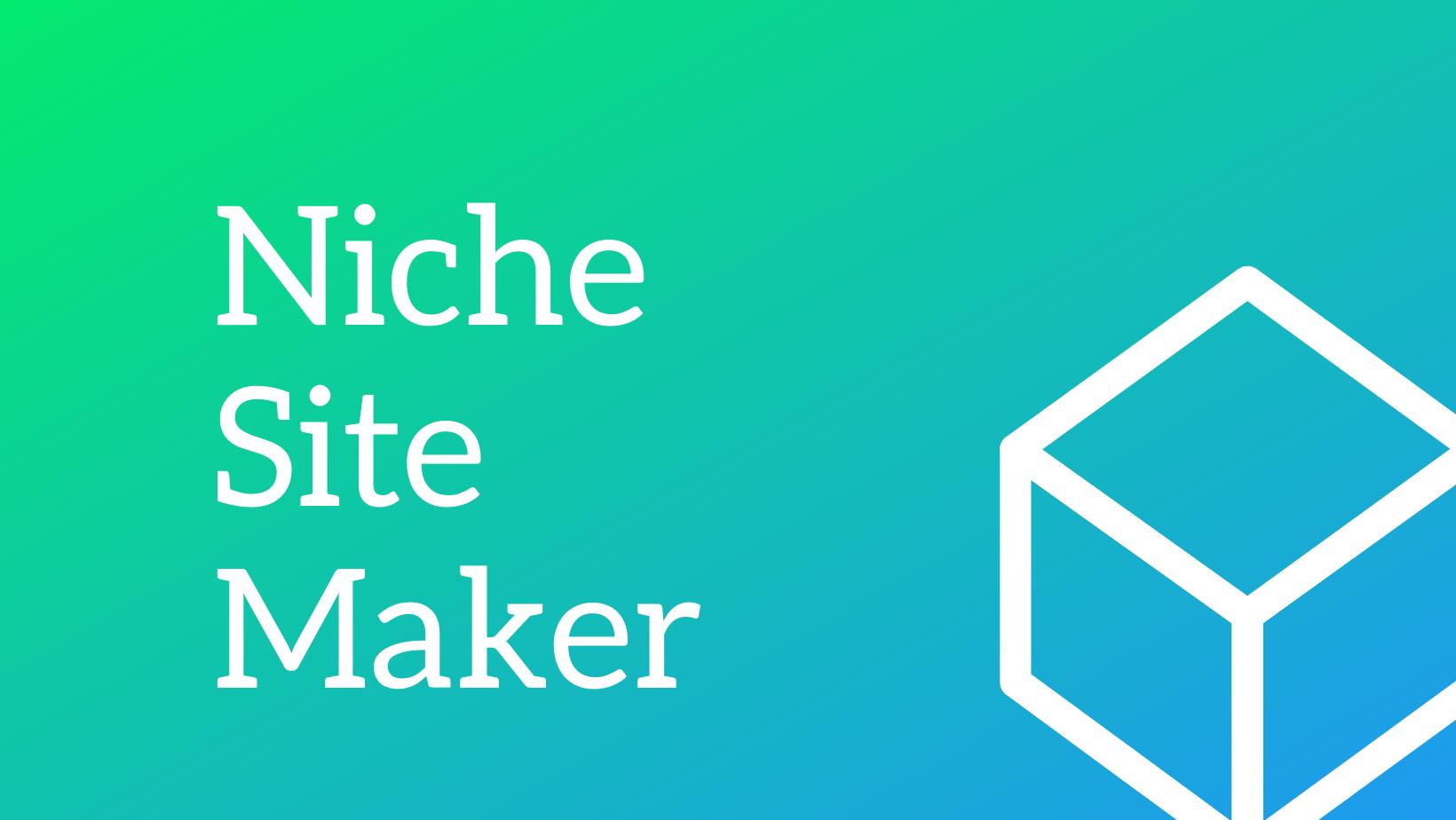 Niche Site Maker - Simply build niche affiliate websites