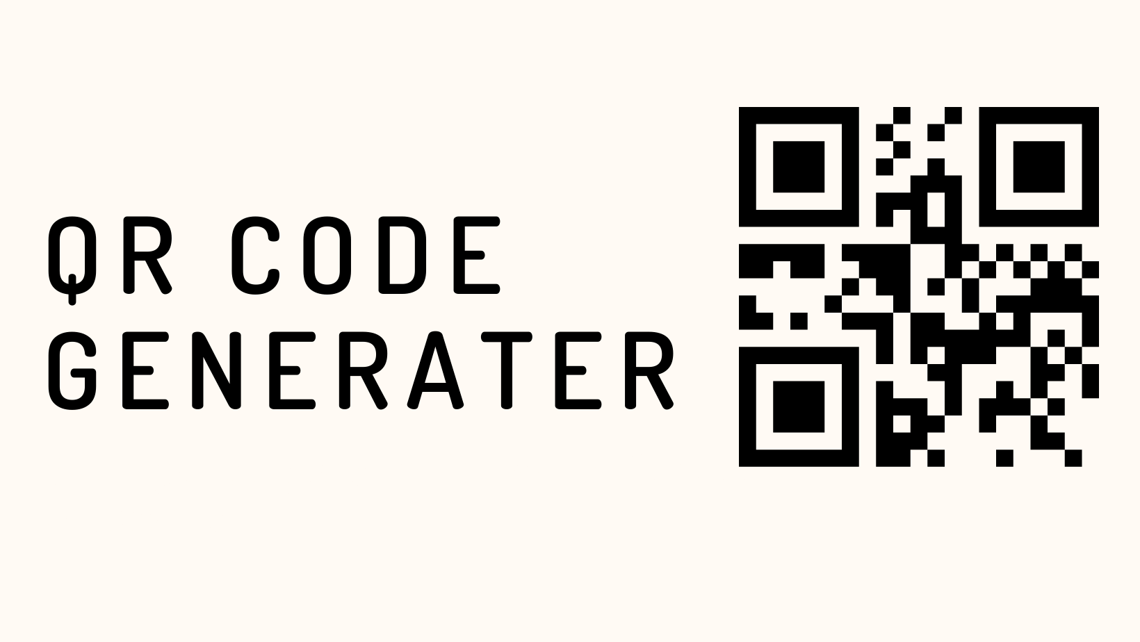 The Quick and Easy QR Code Generater
