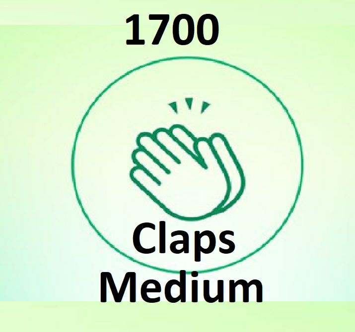 Provide You 1700+ Worldwide Medium claps Article