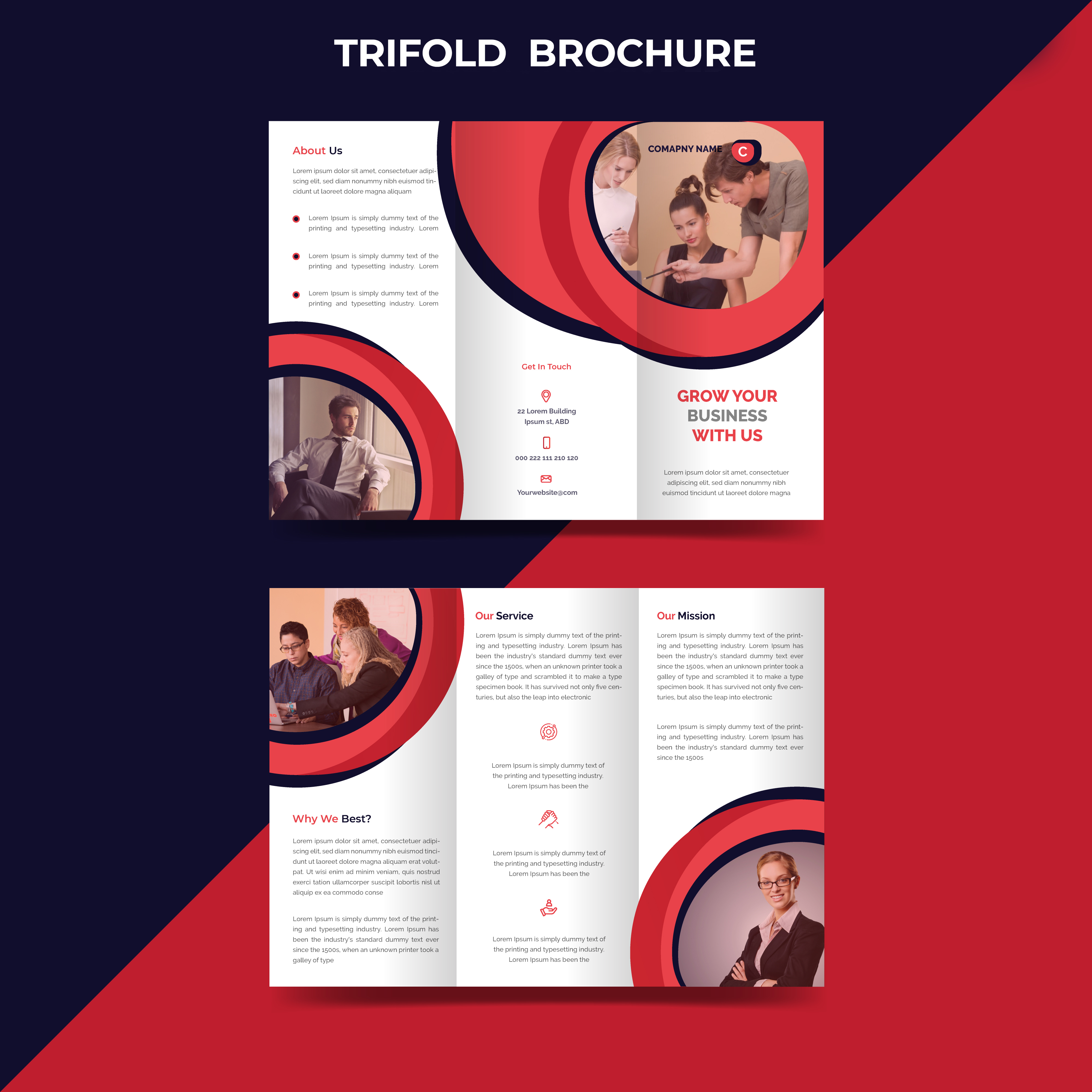 I will design a business trifold brochure,  corporate brochure