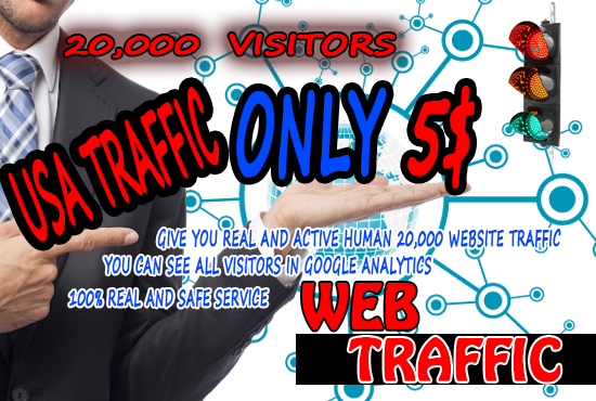 I will real USA organic web traffic for your web site 20,000 visitors Keyword Taged