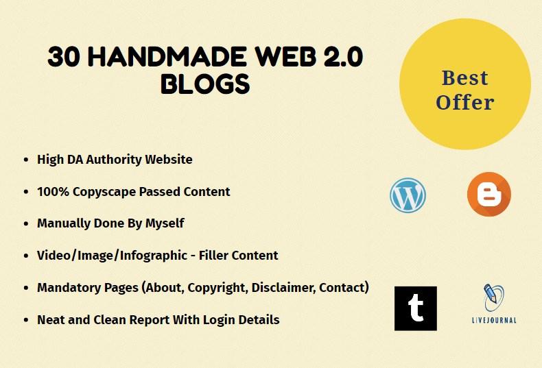 30 High DA Web 2.0 Blogs For Backlinks