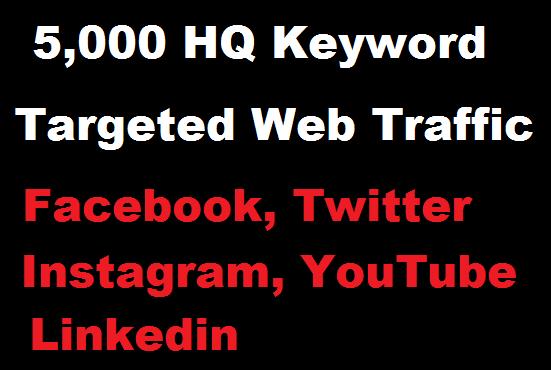 5000 Real HQ Keywords targeted web traffic