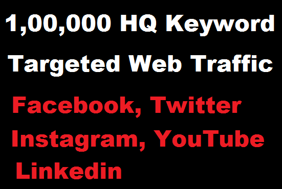 HQ 100,000 Real Web Traffic for 1 month