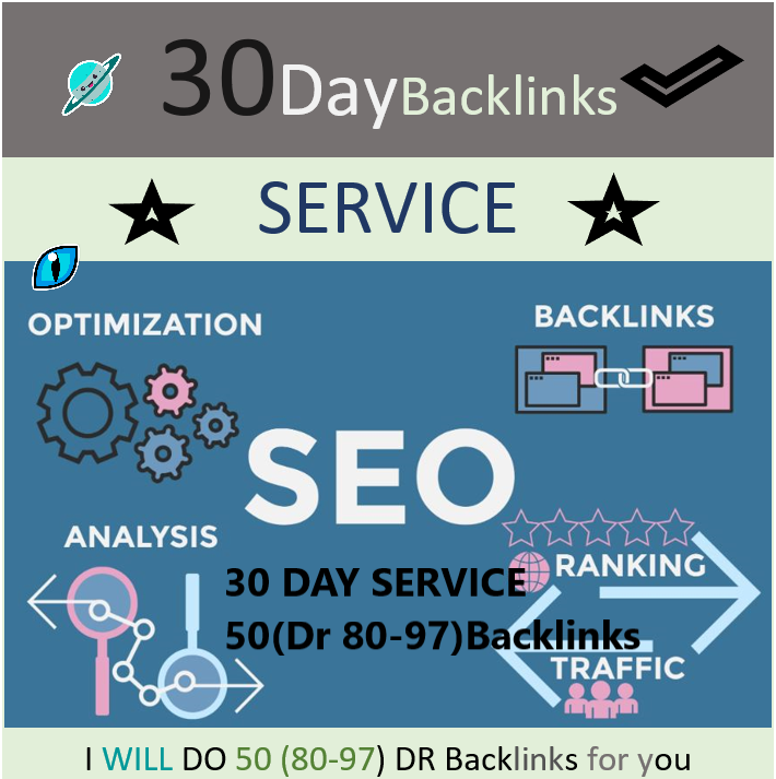 Every day for 30 days,  I will create 50 high DR DoFollow backlinks for Google First Page Rank