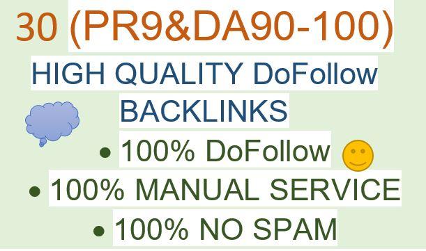 I will do Ranking your website with 30 High Authority SEO Backlinks DA90-100