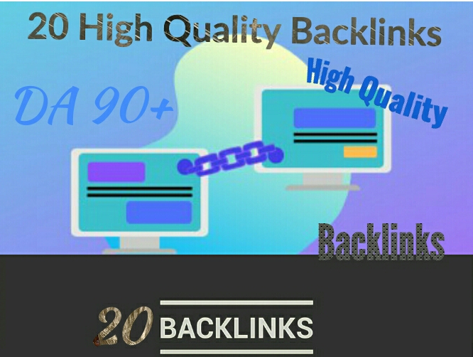 I will build high quality 20 backlinks for seo
