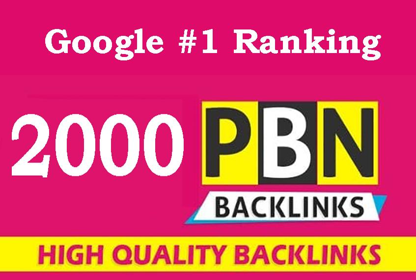 2000 Powerful PBN Backlinks on High DA PA