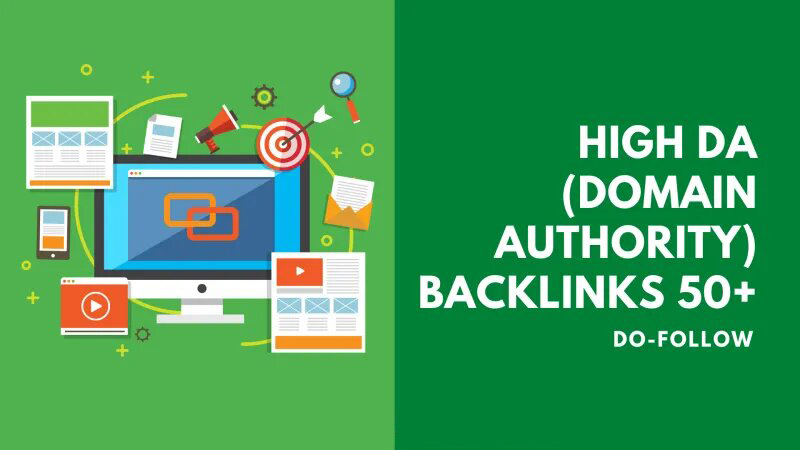 I will build Manually 50+ High DA Domain Authority Do-follow Backlinks best SEO