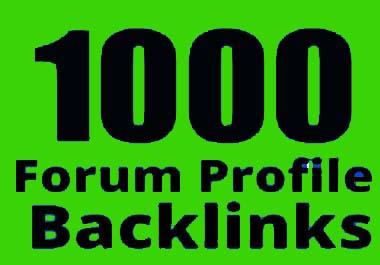 I will provide 1000 forum profile backlinks