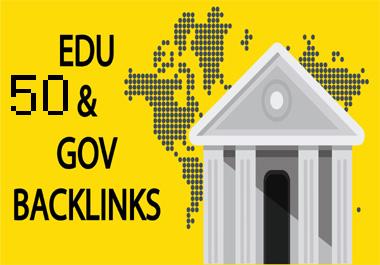 Create 50 Edu & Gov Backlink For Website