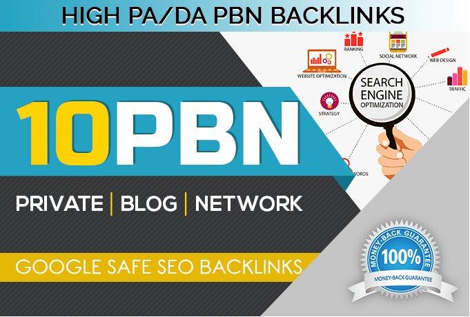 Build 10 pbn post backlinks on high metrics sites
