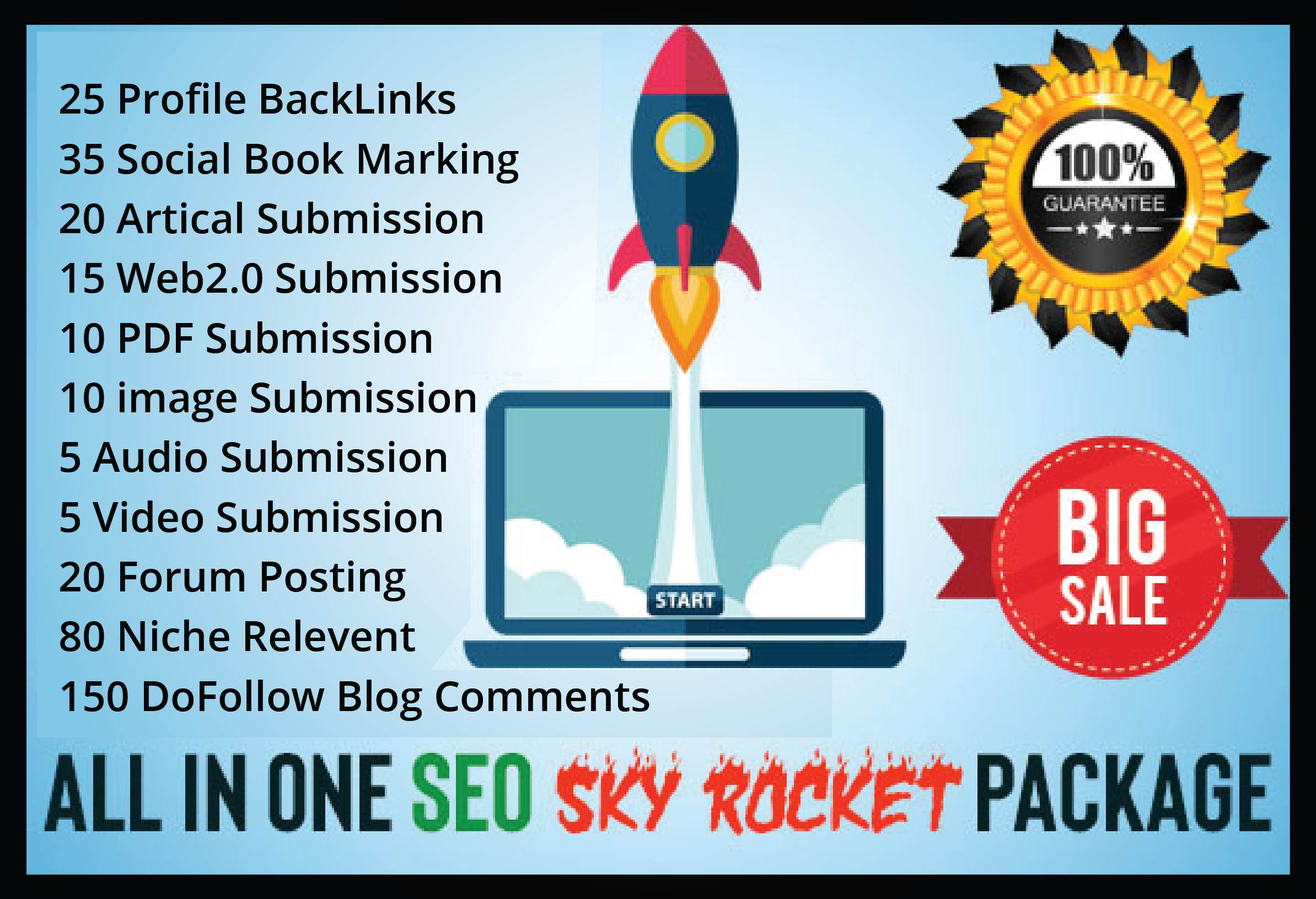 I Will Do White hat SEO Offpage Backlink Package Service