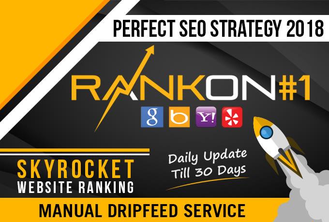 Help to rank your website on google. 30 days SEO backlinks