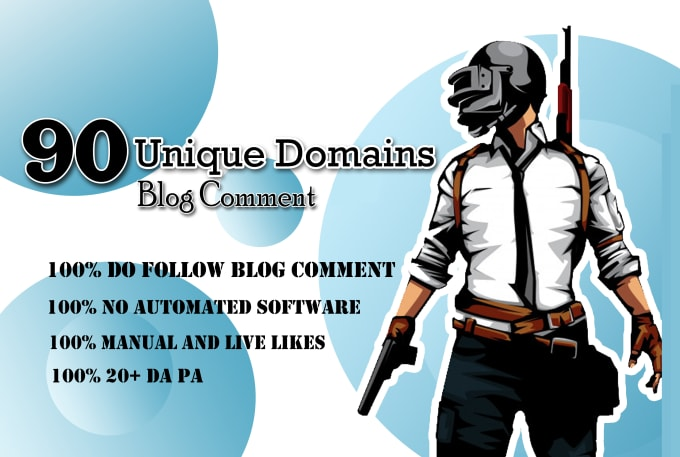 I will 90 unique domains SEO service blog comments back links