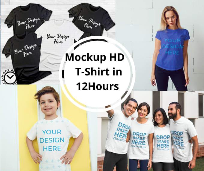 I will create 120 impressive realistic HD T-shirt mockup in 20hours