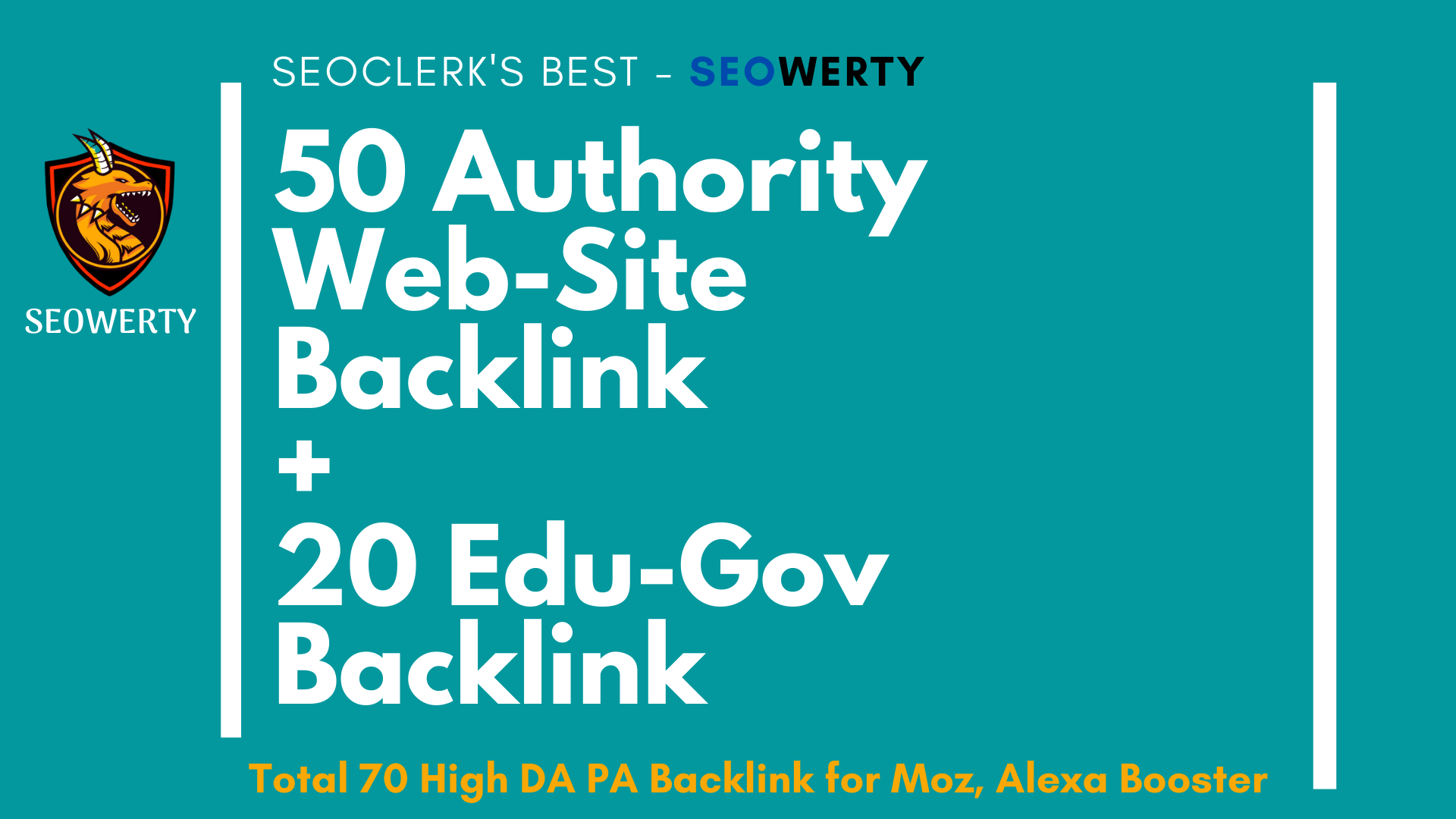 50 High Autority Backlink and 20 Edu & Gov Backlink